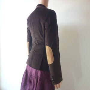 Sacoor Brown Cotton Corduroy Jacket EU 34 US 4